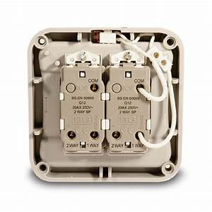 Bg Electrical Single Pole Switch  2 Gang 2 Way Switches