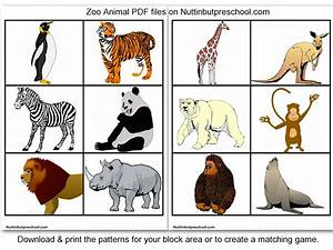 Zoo Animal Printables For Block Corner or Matching Game ...
