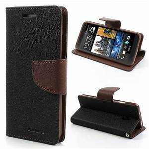 HTC One Mini Black Fancy Diary Wallet Case