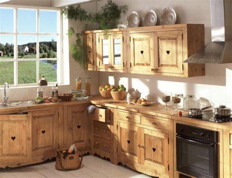 meuble de cuisine bois meuble de cuisine bois brut le bois chez vous