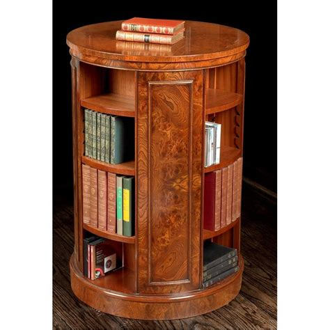 Revolving Bookcase by Revolving Elm Bookcase Home Decor Bookcase