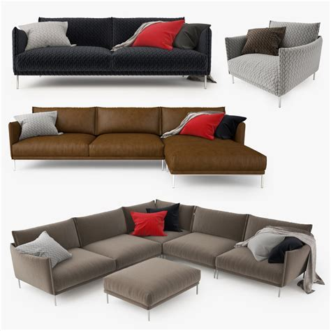 Moroso Gentry Sofa by Moroso Gentry Sofa Collection 3d Model Facequad