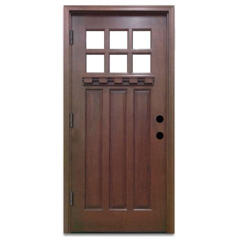 home depot craftsman door steves sons 36 in x 80 in craftsman 6 lite stained