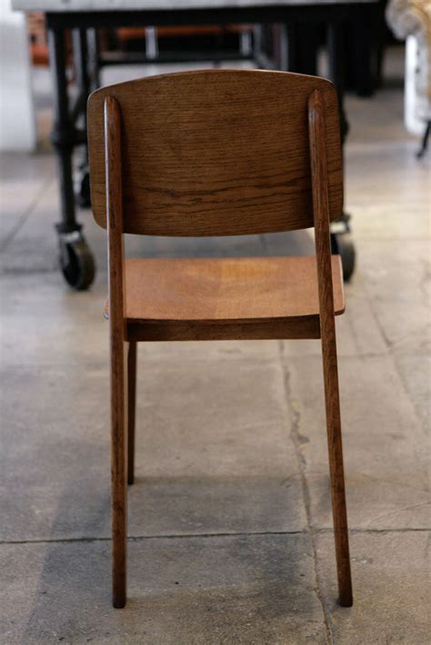 chaise prouvé jean prouve set of 4 39 chaise tout en bois 39 chairs ca