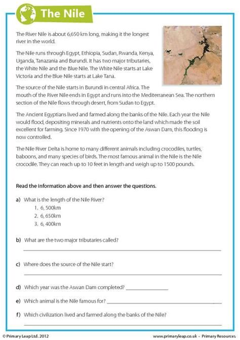 37 best geography printable worksheets primary leap