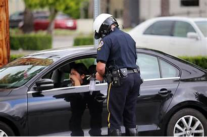 Police Driving Distracted Pasadena Department Officer Focused