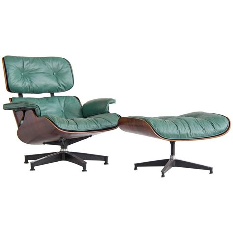 early special order green leather rosewood eames lounge