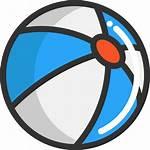 Pelota Ball Clipart Svg Playa Gratis Cartoon