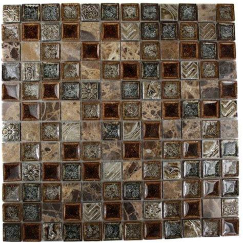 home depot glass tile splashback tile selection charred chestnut 12 in x