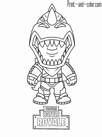 Fortnite Coloring Pages Printable Sheets Drawing Boys