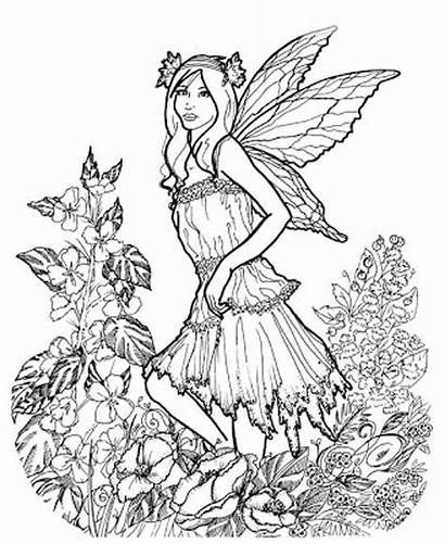 Coloring Adults Pages Adult Spring Printable Fairy