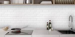 Avenue De La Brique : cr dence mur briques blanches cr dence cuisine sur mesure ~ Melissatoandfro.com Idées de Décoration