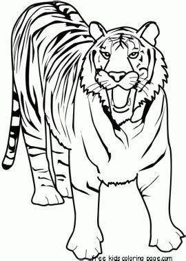 printable animal tiger  africa coloring pages