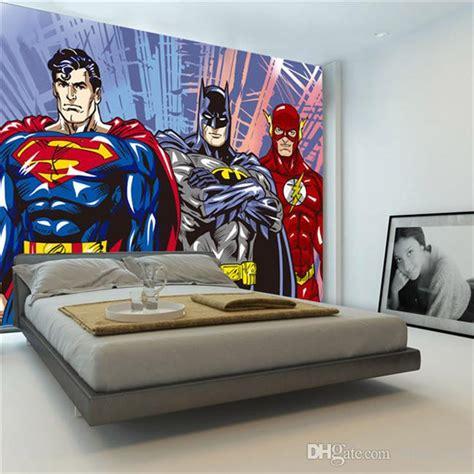 custom  wall murals batman superman flash wallpaper
