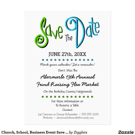 church school business event save  date announcement