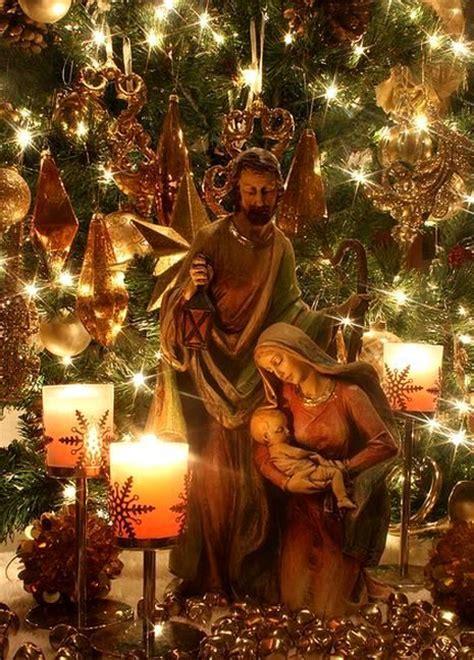 nativity   tree beautiful christmas