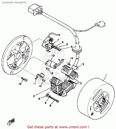 Yamaha At1 Wiring Diagram by Yamaha Dt175a 1974 1975 Flywheel Magneto Schematic