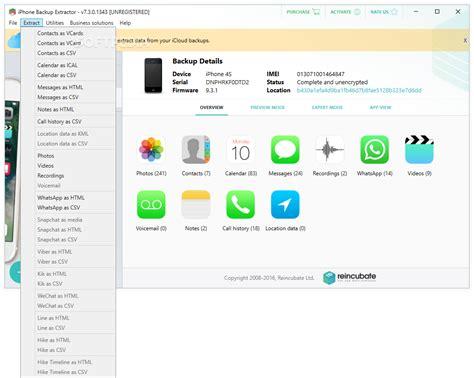 iphone backup extractor iphone backup extractor