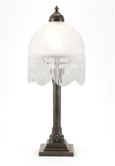 Stiffel Table Lamp Shades by Luxury Lighting Column Lamp With Beaded Alabaster White