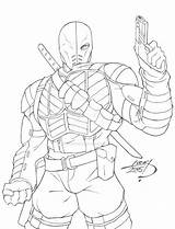 Coloring Death Stroke Deathstroke Comments sketch template