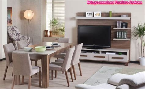 casual dining room furniture table chairs  tv unit