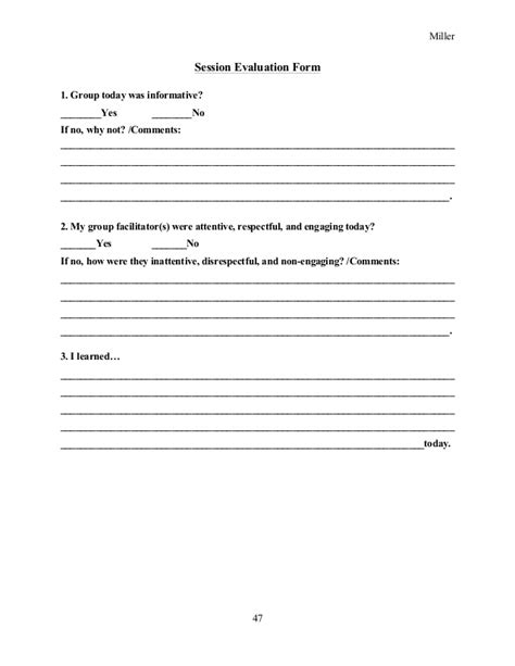 group counseling evaluation form group therapy evaluation form reminiscence therapy 2