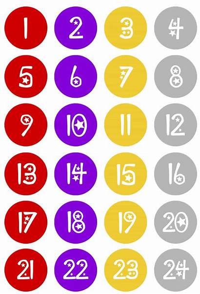 Countdown Christmas Calendar Numbers Diy Kisses Hershey