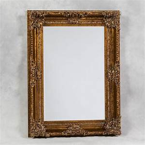 sandy gold rectangle mirror 120 x 90 cm exclusive mirrors With miroir 120 x 90