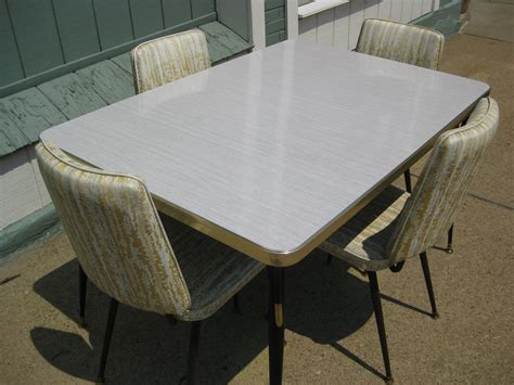 vintage  formica kitchen table   chairs