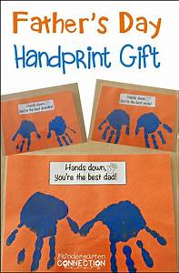 Father's Day Handprint Gift - The Kindergarten Connection
