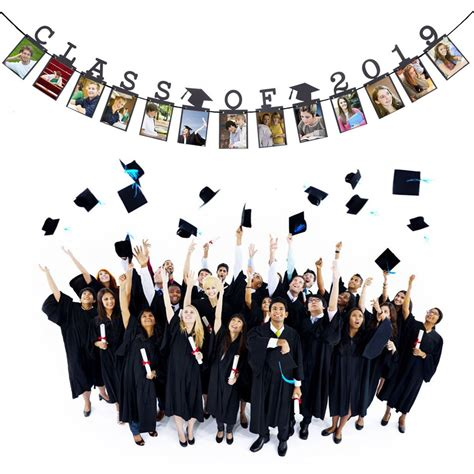 We have 21 of the best graduation party decorations and ideas. Child Graduation Gift Decorations Class Of 2019 Photo Banner Wall Party Decorat - Walmart.com ...