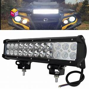 12 U0026quot  Led Work Light Bar Polaris Xp1000 Xp900 800 Ranger Rzr Rzr4 Can Am Maverick