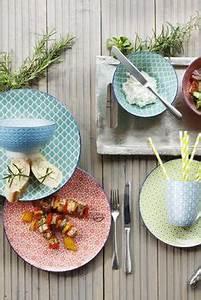 Keramik Geschirr Mediterran : living keramik teller set retro 4 tlg bunt keramik ~ Michelbontemps.com Haus und Dekorationen