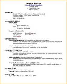 resume for a 5 how to make a resume for college bibliography format
