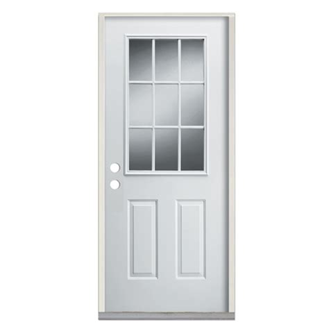 door steel door white door exterior door entry door