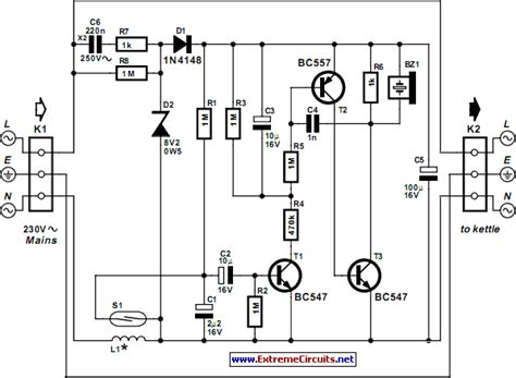 whistling kettle circuit diagram