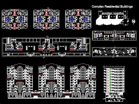 residential building housing  autocad cad  mb bibliocad