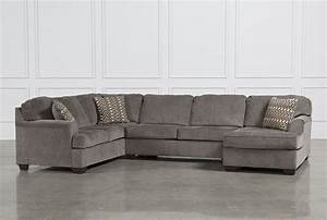 Loric Smoke 3 Piece Sectional W/Raf Chaise - Living Spaces