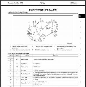 Nissan Micra 2015 User Wiring Diagram
