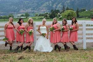 Pink Bridesmaid Dresses With Cowboy Boots | Dresses Trend