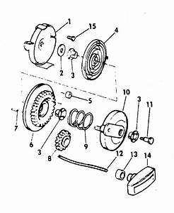 Johnson Rewind Starter Parts For 1971 4hp 4w71d Outboard Motor