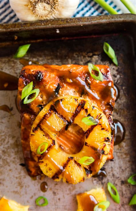 hawaiian grilled salmon  easy grilled dinner recipe