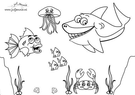 Onderwaterdieren Kleurplaten by Zee Kleurplaten Juf Jannie Apps Voor Kinderen