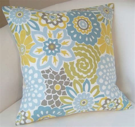 blue and throw pillows decorative pillow cover spa blue pillow yellow cushion 7926