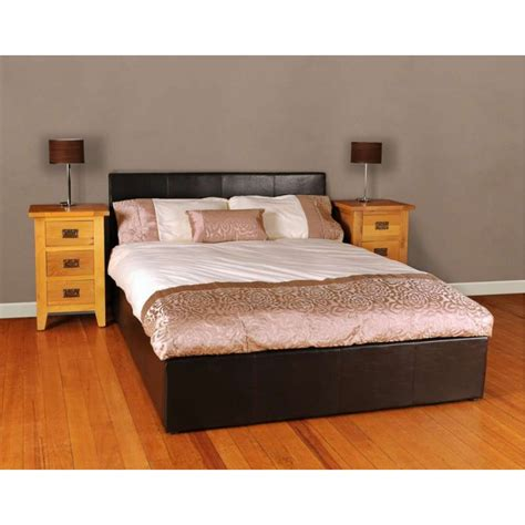 Leather Ottoman Bed by Viennese Faux Leather Ottoman Storage Bed