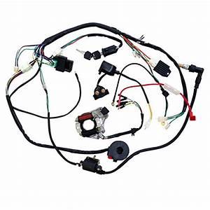Minireen Full Wiring Harness Loom Kit Cdi Coil Magneto Kick Start Engine For 50cc 70cc 90cc