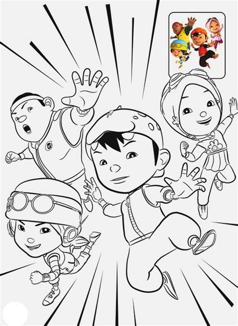 boboiboy coloring page  kids minion coloring pages