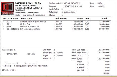 Contoh Faktur Pembelian Jasa by Contoh Jurnal Umum Faktur Contoh 193