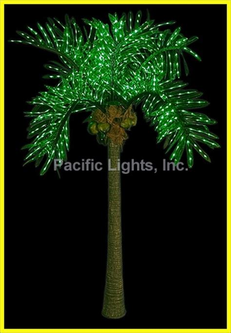 light up palm tree led lighted palm tree pacific lights inc led