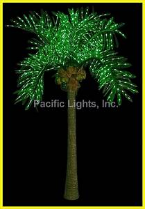 Natural LED Lighted Palm Tree Pacific Lights Inc LED